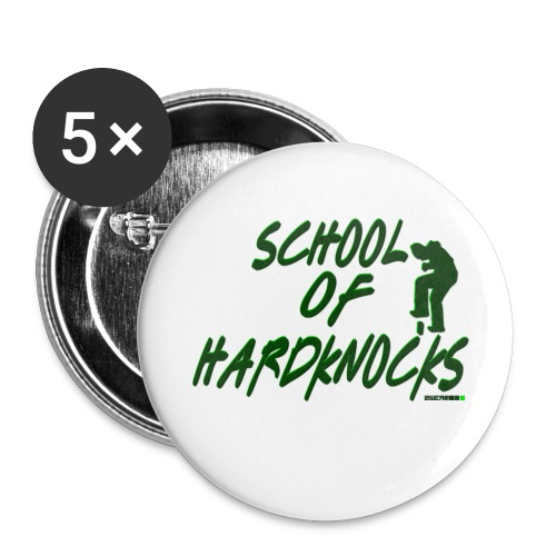 School of Hardknocks - Buttons/Badges stor, 56 mm (5-pack)