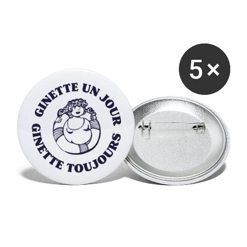Ginette un jour... Ginette toujours ! - Lot de 5 grands badges (56 mm)