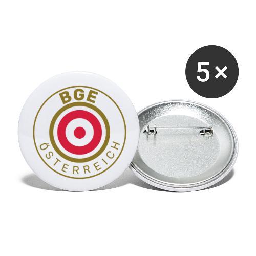 BGE in Österreich mit Fahne - Buttons groß 56 mm (5er Pack)