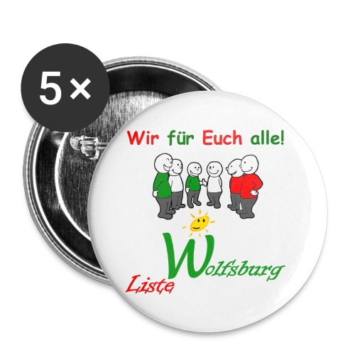 Notizblock LW Becher jpg - Buttons groß 56 mm (5er Pack)