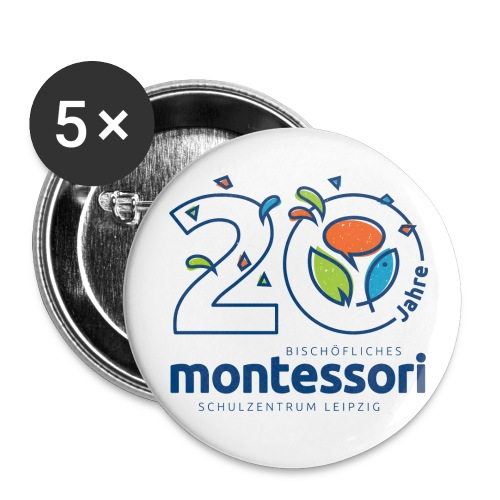 monte tasche png - Buttons groß 56 mm (5er Pack)