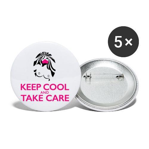 Keep cool - Lot de 5 grands badges (56 mm)