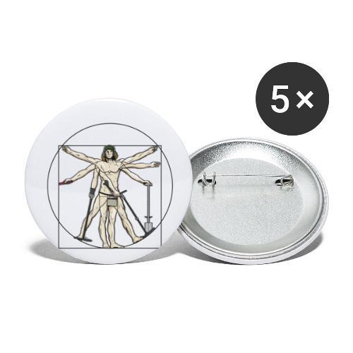 Universal Detectorist - Paquete de 5 chapas grandes (56 mm)
