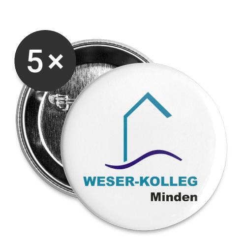 wkmlogo - Buttons groß 56 mm (5er Pack)