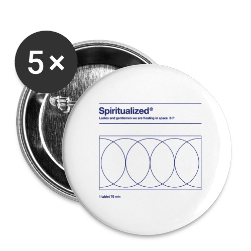 SPIRITUALIZED LOGO - Buttons groot 56 mm (5-pack)