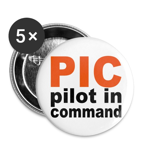 PIC Sign - Buttons groß 56 mm (5er Pack)