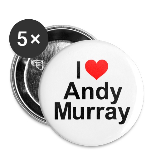 iheartmurray - Buttons large 2.2''/56 mm (5-pack)