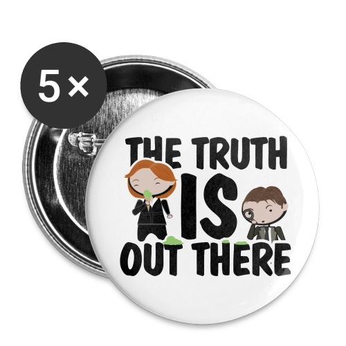 x files the truth is out there - Paquete de 5 chapas grandes (56 mm)