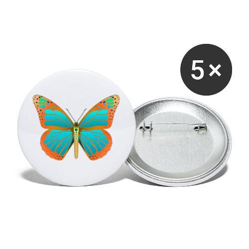 190531 Monarch Butterfly Dean version - Paquete de 5 chapas grandes (56 mm)