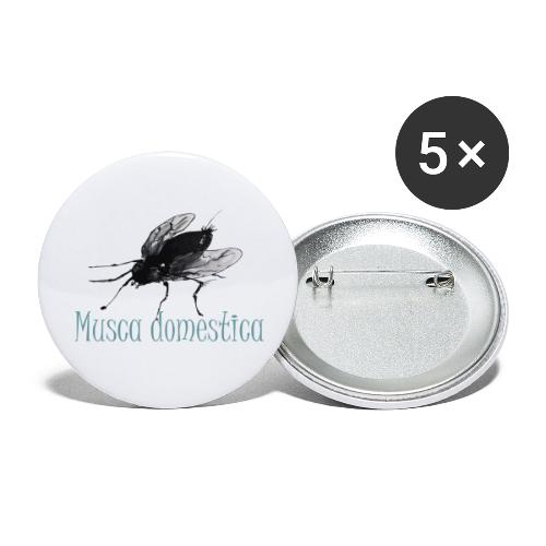 Musca domestica, eine Homage... - Buttons groß 56 mm (5er Pack)