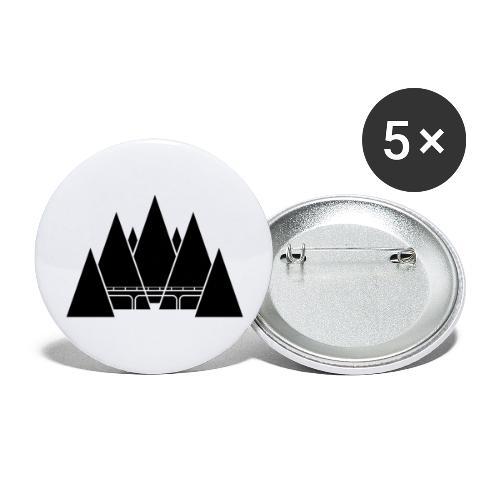 Black Mountain - Confezione da 5 spille grandi (56 mm)