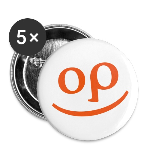 optishirtgesicht - Buttons groß 56 mm (5er Pack)