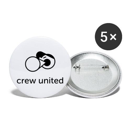 Crew United - Buttons large 2.2''/56 mm (5-pack)