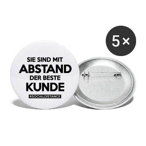 Sie sind mit ABSTAND der beste Kunde - Buttons groß 56 mm (5er Pack)