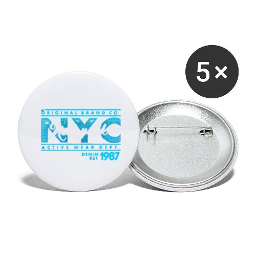 NYC New York - Buttons groß 56 mm (5er Pack)