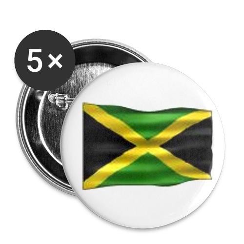 Jamaica - rintamerkki 56mm - Rintamerkit isot 56 mm (5kpl pakkauksessa)