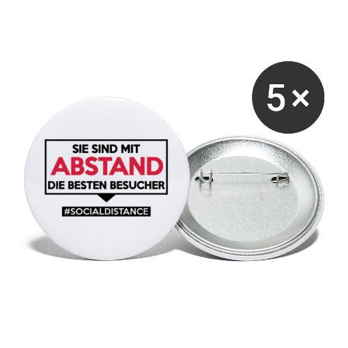 Sie sind mit ABSTAND die besten Besucher. sdShirt - Buttons groß 56 mm (5er Pack)