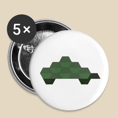 Turtle - Lot de 5 grands badges (56 mm)