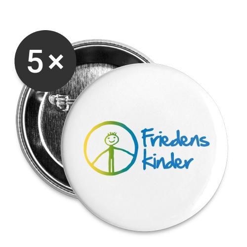 Friedenskinder Logo - Buttons groß 56 mm (5er Pack)