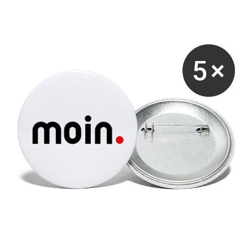 moin - Buttons groß 56 mm (5er Pack)