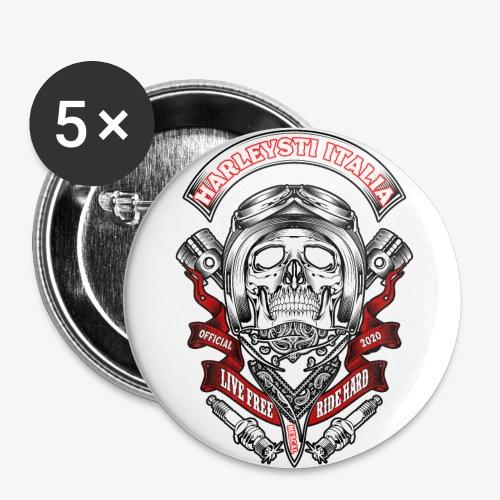 Harleysti Italia official 2020 - Confezione da 5 spille grandi (56 mm)