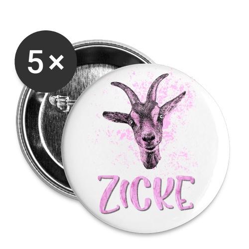Zicke - Buttons groß 56 mm (5er Pack)