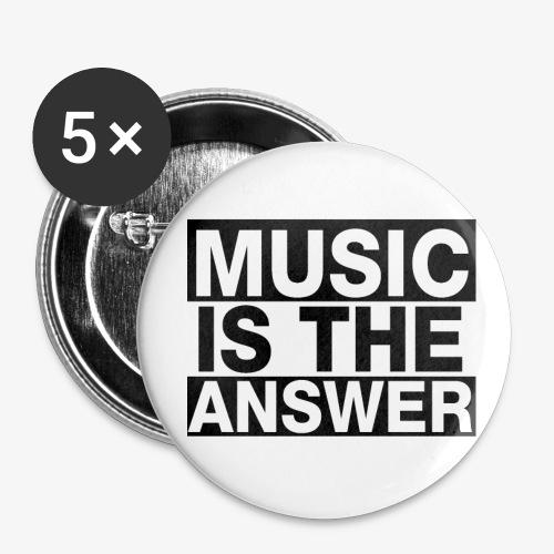 music is the answer - Paquete de 5 chapas grandes (56 mm)