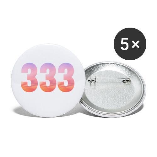 333 vous étes entouré de maitres ascensionnés - Lot de 5 grands badges (56 mm)