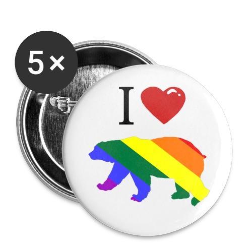 rainbowbear400 - Buttons large 2.2''/56 mm(5-pack)