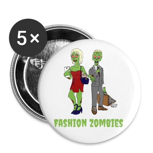 Fashion Zombie - Buttons large 2.2''/56 mm(5-pack)