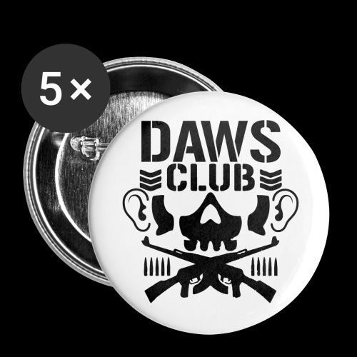 Daws Club Black Logo png - Buttons large 2.2''/56 mm (5-pack)