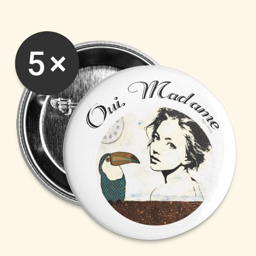 Oui Madame - Chrystelle Gouy - Lot de 5 grands badges (56 mm)