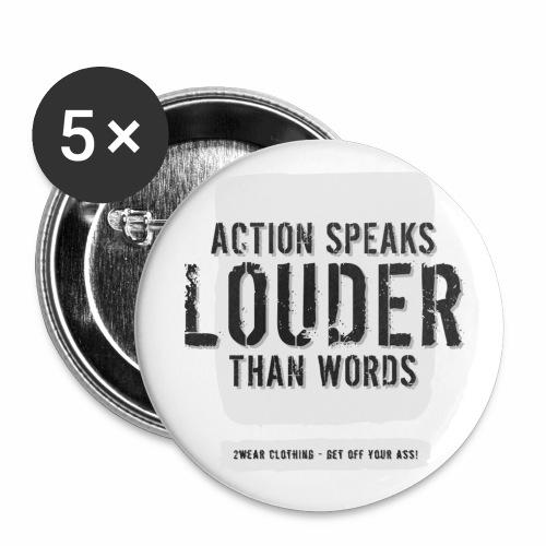 Action Speaks... LG √ - Buttons/Badges stor, 56 mm (5-pack)