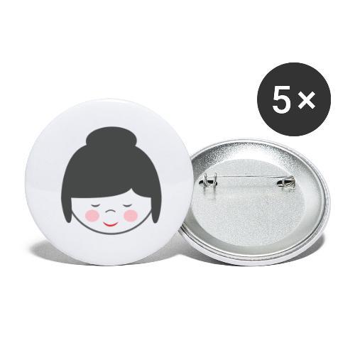Doctora Retail Smiling - Paquete de 5 chapas grandes (56 mm)