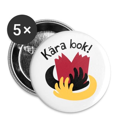 KÄRA BOK! - Stora knappar 56 mm (5-pack)