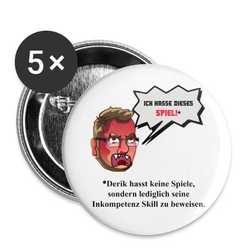 mad design - Buttons groß 56 mm (5er Pack)
