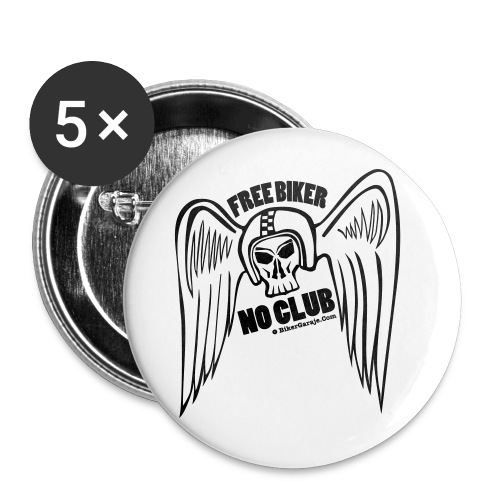 angel alado casco 2 - Paquete de 5 chapas grandes (56 mm)