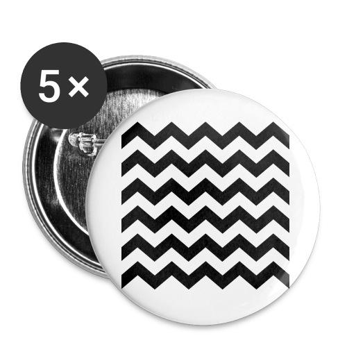 zigzag png - Lot de 5 grands badges (56 mm)
