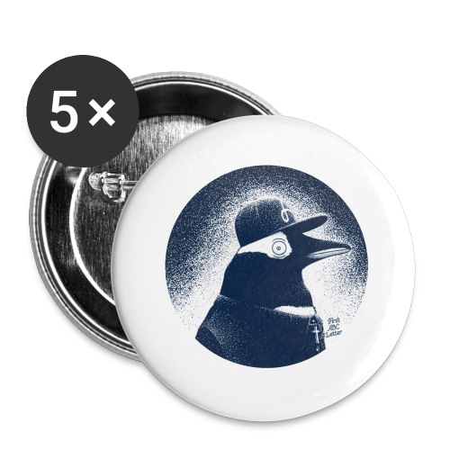 Pinguin dressed in black - Buttons large 2.2''/56 mm(5-pack)