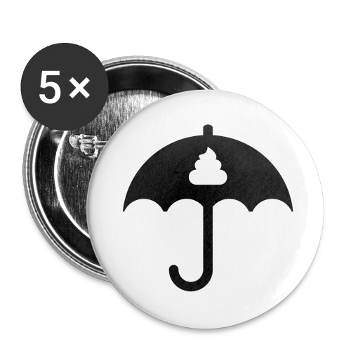 Shit icon Black png - Buttons large 2.2''/56 mm(5-pack)