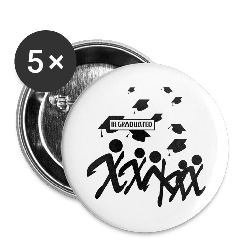 BEGRADUATED - Buttons groot 56 mm (5-pack)
