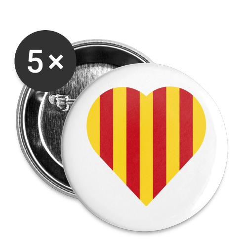 L'Estelada Vermella Cor Catalunya - Buttons large 2.2''/56 mm(5-pack)