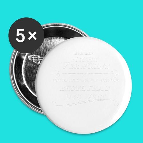 Beste Frau der Welt - Buttons groß 56 mm (5er Pack)