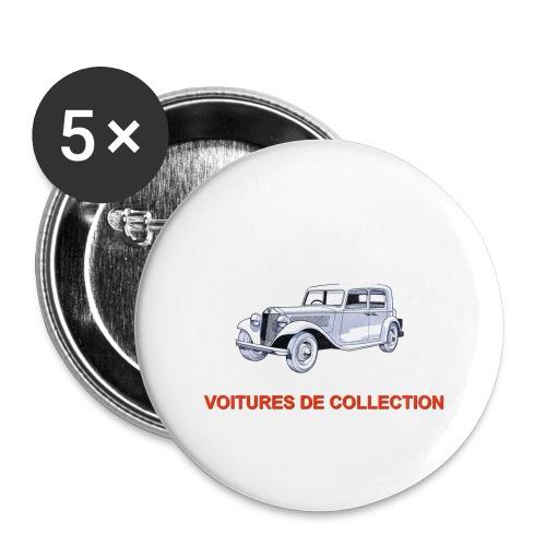 Vieux tacots - Lot de 5 grands badges (56 mm)