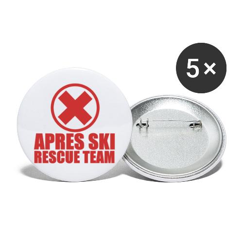 apres-ski rescue team - Buttons groot 56 mm (5-pack)