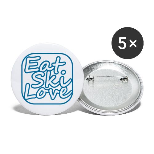 eat ski love - Buttons groot 56 mm (5-pack)