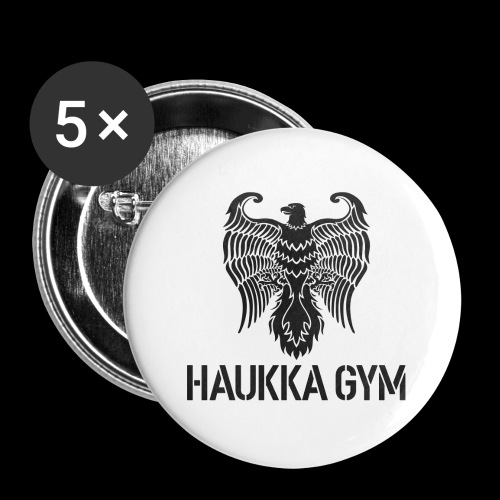 HAUKKA GYM LOGO - Rintamerkit isot 56 mm (5kpl pakkauksessa)