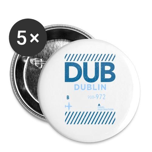 Dublin Ireland Travel - Buttons large 2.2''/56 mm(5-pack)