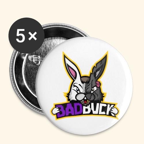 Badbuck Logo - Buttons large 2.2''/56 mm(5-pack)