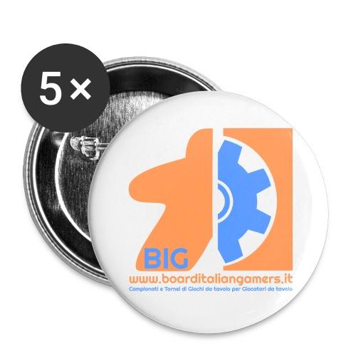 BIG - Confezione da 5 spille grandi (56 mm)